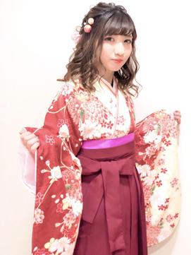 卒業式 袴 成人式 振袖 ルーズ ヘアアレンジ