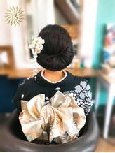 ワンロール風シニヨン☆.24