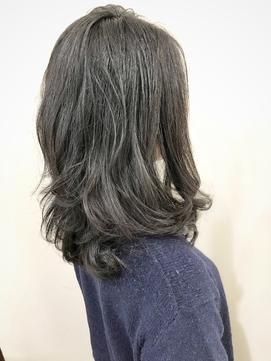 【パーマ】ロングの黒髪パーマはお手入れ簡単