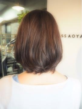 大人の髪型「AFTER」ボブ×オーガニック白髪染めカラー