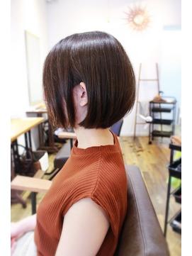 【TIQUE野口☆】ナチュラルショートボブ/前髪なし