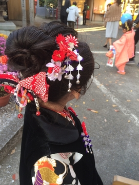 七五三 3歳 結い髪 【日本髪】