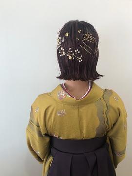 卒業式hair