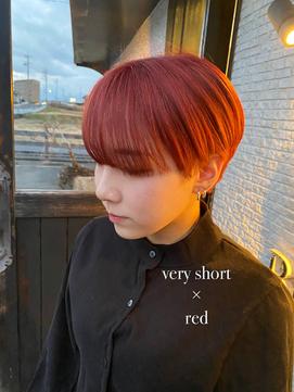 red×韓国マッシュショートスタイル
