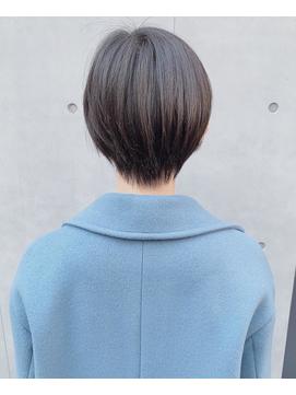 モテ髪冬大人かわいいひし形ショートヘア 小顔ボブ 渋谷表参道