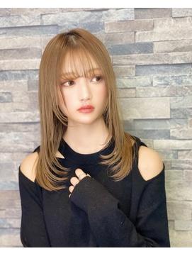 髪質改善☆おもかるラフスタイル 小顔 ナチュラルストレート
