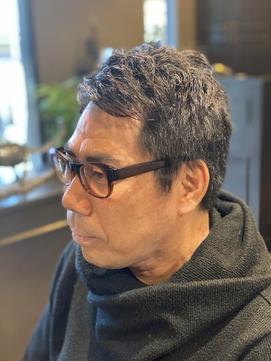ビジネスマン★ツーブロック前髪横流しナチュラルショートヘア