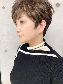 【sweep】50代60代ミセスショート明るい白髪染(豊塚)