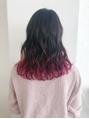 グラデーションカラー 裾カラー ピンクアッシュ 韓国 オルチャン