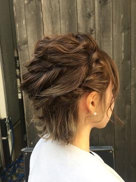 ショートスタイルヘアアレンジ☆w/u岸野