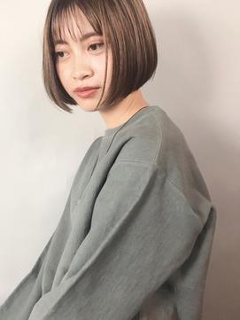 ぱっつんボブ&ミントグレージュ【Luxe高橋あや】表参道