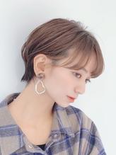 【東 純平】大人かわいい丸みショートボブ.40