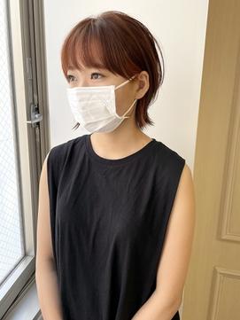 【pupula勝田】レイヤーボブ/オレンジカラー/ウルフボブ