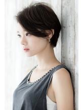 大人かわいいひし形シルエットグレージュエアリーショート☆.46