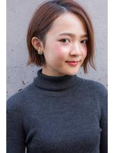 NORA【ERI】黒髪暗髪でも似合う小顔耳かけ外ハネストレートボブ 大人女子.46