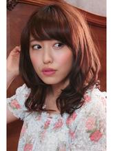 【Quroco】春色ピンクの緩やかフェミニンカール♪ 春色.55