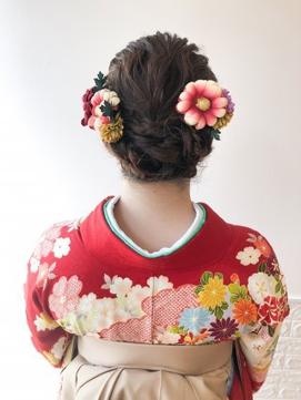 着物にピッタリ編み込みフルアップ☆arc by neolive 荻窪