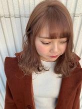 ミディアム☆ピンクベージュ/nana.34
