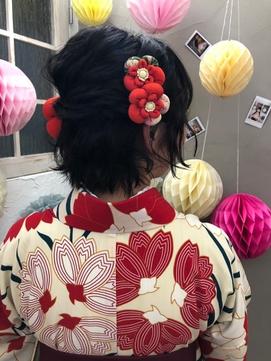卒業式着付け☆ヘアセット
