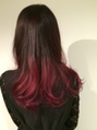 毛先赤のグラデーションカラー