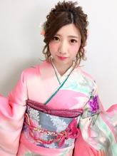 成人式 振袖 卒業式 袴 ヘアアレンジ 編み込み.59
