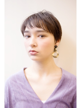 ミニマムフレンチ耳かけイメチェンショート/フォギーベージュ