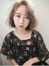 ゆるくしゃ×シースルーバング☆女っぽショート .6