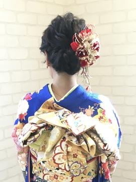 avant ☆振袖ヘアアレンジ☆ ルーズな大人シニヨン