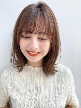 【GARDEN荒井夏海】束感小顔前髪×サラッとストレートロブ