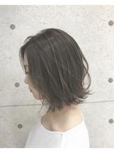 【Euphoria 金沢】グレージュカラーの切りっぱなし外ハネボブ♪.16