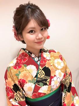 成人式 振袖 卒業式 袴 ヘアアレンジ ルーズ ダウンスタイル