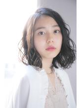 【GARDEN西川】黒髪前髪なしジェンダーレスフェアリーパーマロブ うるツヤ.30
