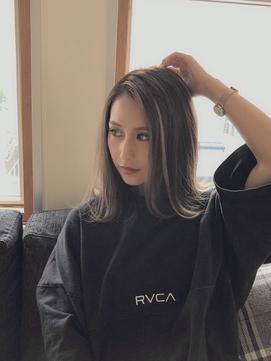【freera上石】  小顔 エクステハイライト グラデーションカラー
