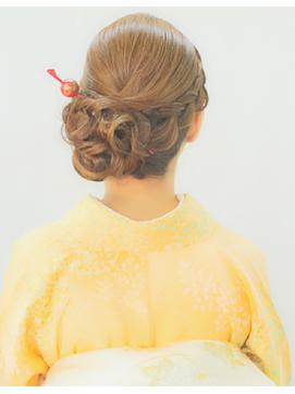 和装ヘアセット訪問着のお着物で入学式★横浜元町sopo★訪問着