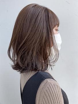 【GARDEN荒井夏海】ふんわりレイヤーロブ×ショコラブラウン