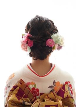 振袖に合う低めシニヨン★春日部