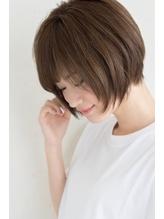 【miles 松本弘大】大人かわいい♪ひし形シルエットショートボブ.21