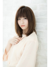 ストレートツヤ小顔クラシカル厚めバングベージュミディアム☆.39