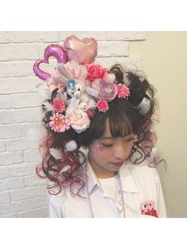 体育祭☆ヘアセット