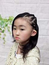 子供ヘアセット☆人気!!キッズイベントヘアセットコーンロウ♪.5
