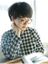 【nanuk】スタンダードなショートヘア◇自毛っぽいアッシュが◎ メガネ.36