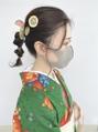 卒業式・袴レンタル・オリジナルヘアアクセ玉ねぎヘア【仙台D】