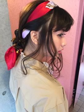 石原さとみ風カジュアルで可愛いスカーフアレンジ 東海林翔太