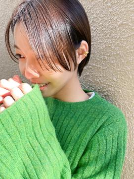 〈THOiRY YUKI〉大人かわいい小顔耳かけコンパクトショート