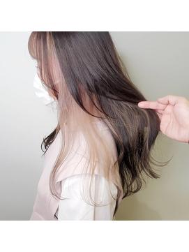 【TABOOCentral】インナーカラー☆ホワイトミルクティーベージュ