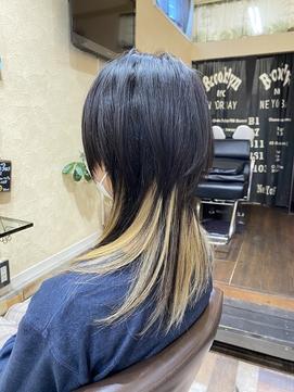 ☆ 金髪インナ-カラー × セミウルフ ★(SOMEBRIDGE亀有)