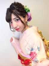 振袖 生花の編み込みアレンジ 成人式.8