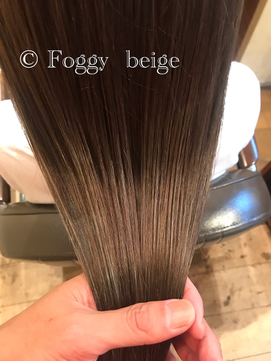 大人可愛いフォギーベージュカラー■ ohana 表参道 髪質改善 ■