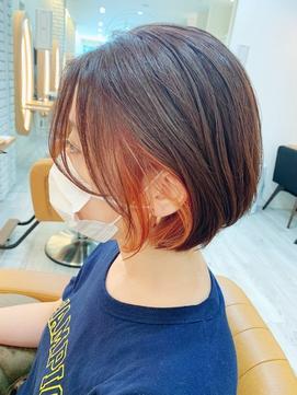【インナーカラー】アプリコットオレンジ 10代20代30代