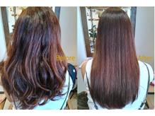 髪質改善ストレートでダメージ毛やクセ毛も扱いやすい髪に☆